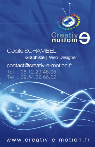  carte de visite directeur artistique graphiste agence communication web Lyon creation site internet lyon