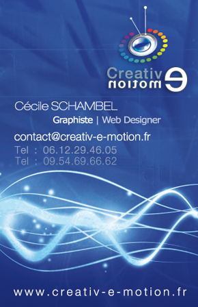 carte de visite Webdesign Webdesigner communication creation site web design Lyon