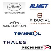 zoom sur quelques références Clients en webdesign et création de sites internet Festival de Cannes, Fiducial, Almet, Tenesol, Thales, Pechiney